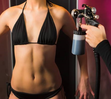a picture of the spray tanning click through button